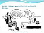 element 1 research general information on food and beverage68