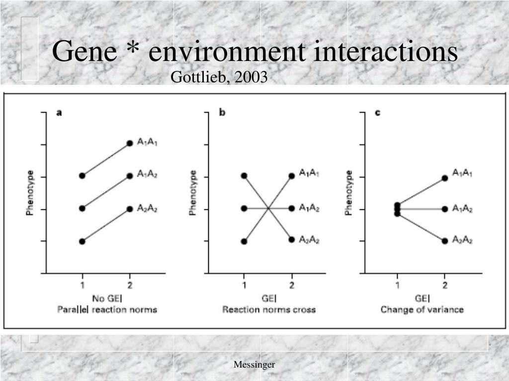 Gene * environment interactions