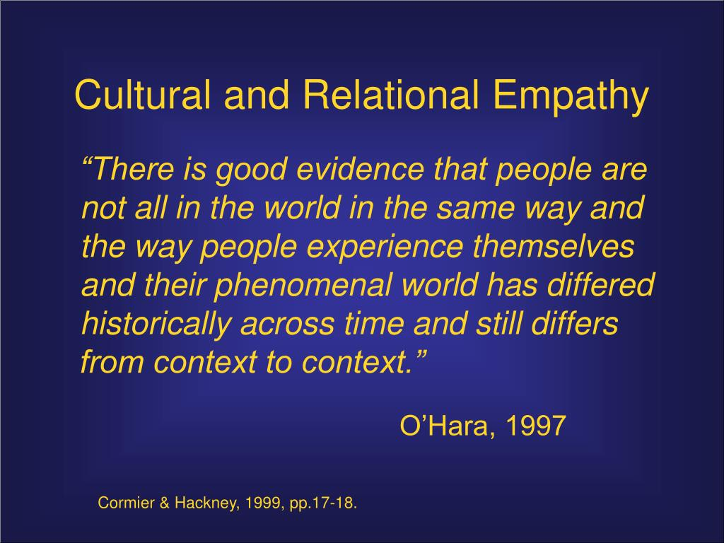 Cultural and Relational Empathy