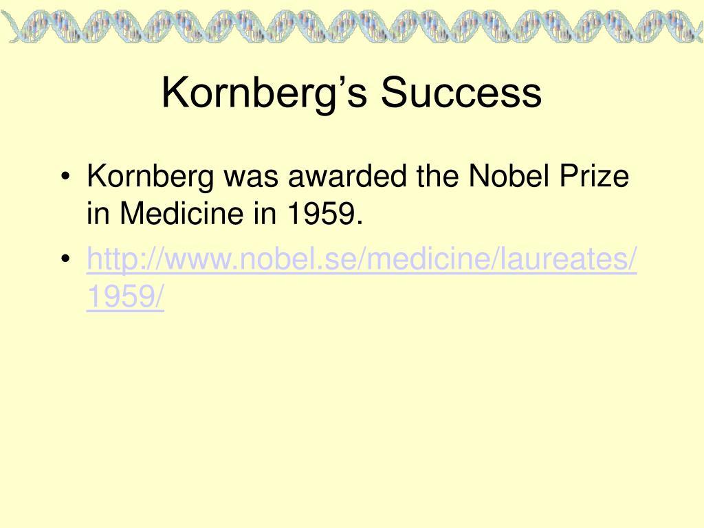 Kornberg's Success