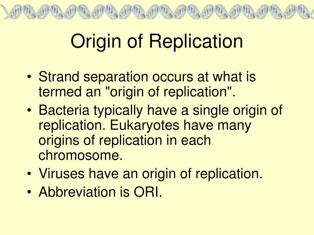 Origin of Replication