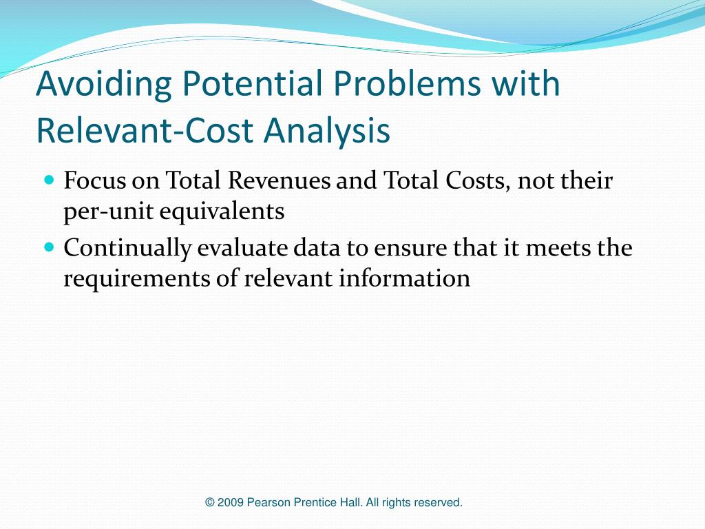 Avoiding Potential Problems with