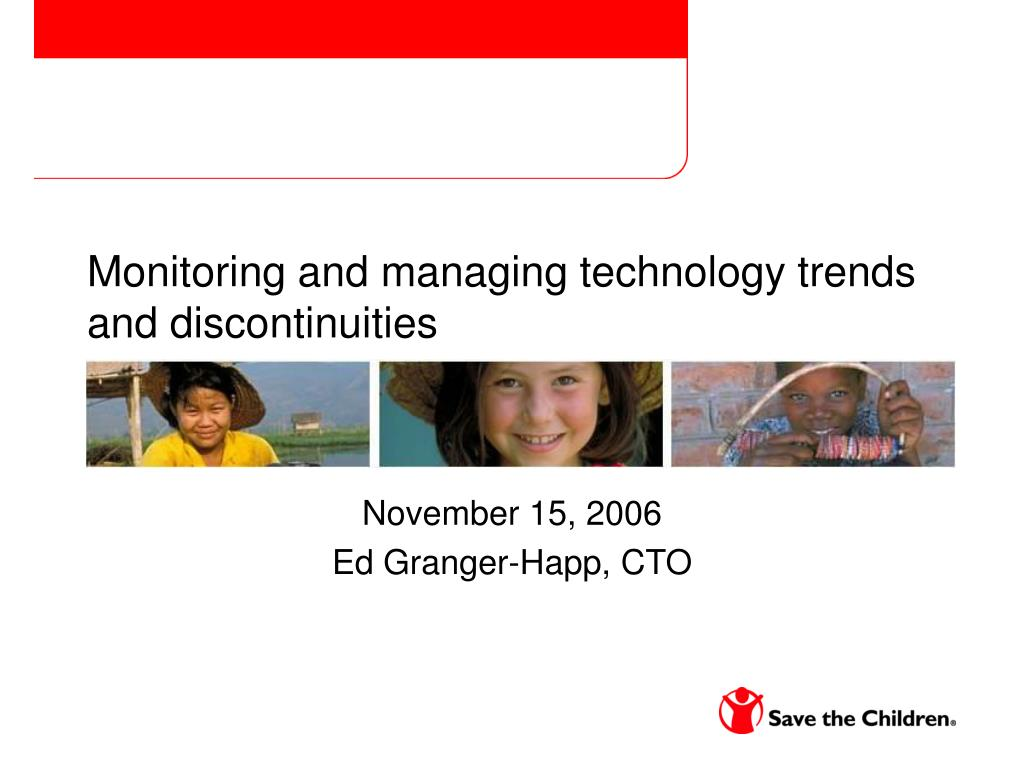 Monitoring and managing technology trends and discontinuities