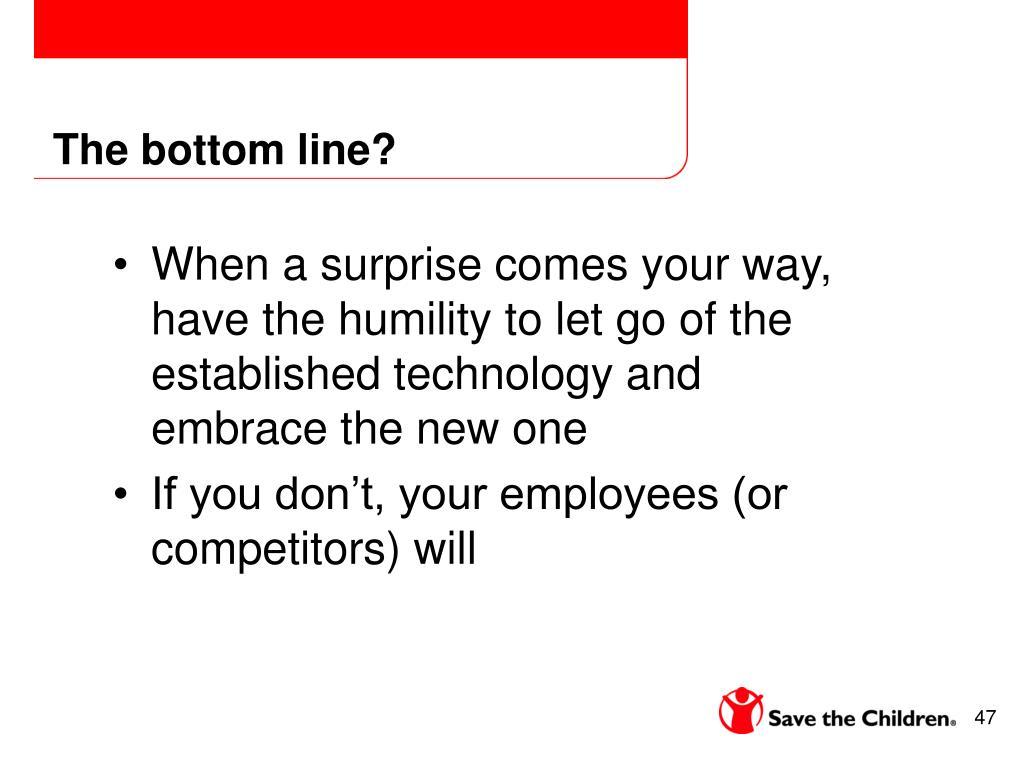 The bottom line?