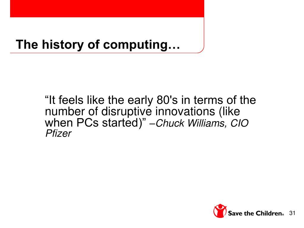 The history of computing…