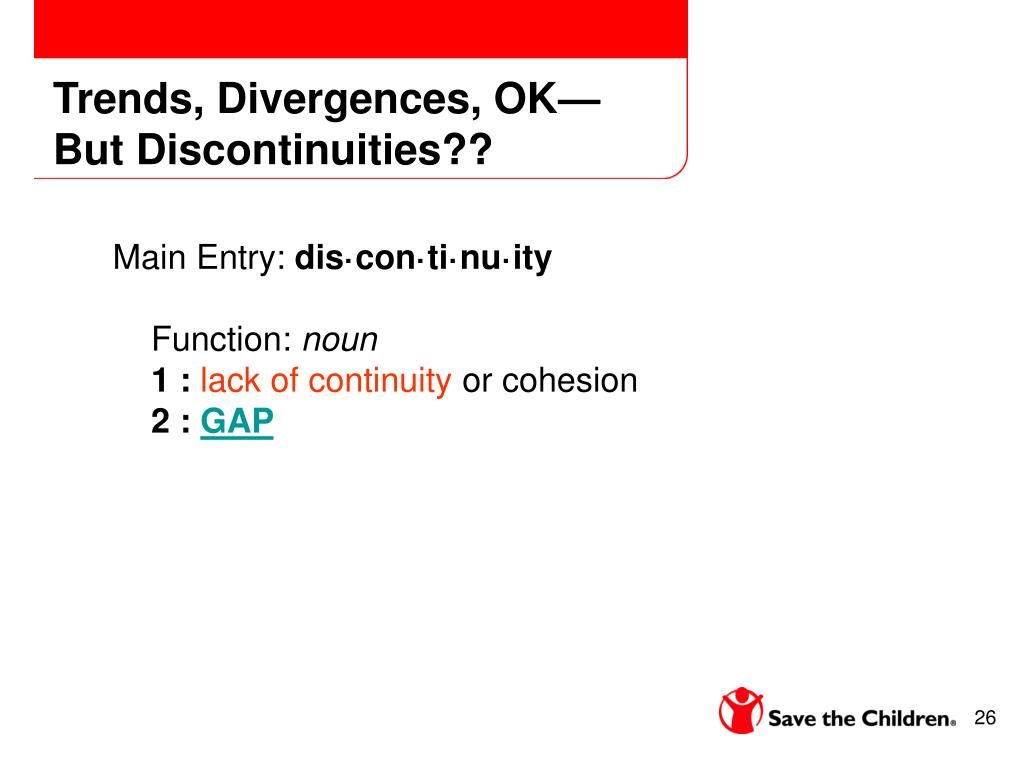 Trends, Divergences, OK—