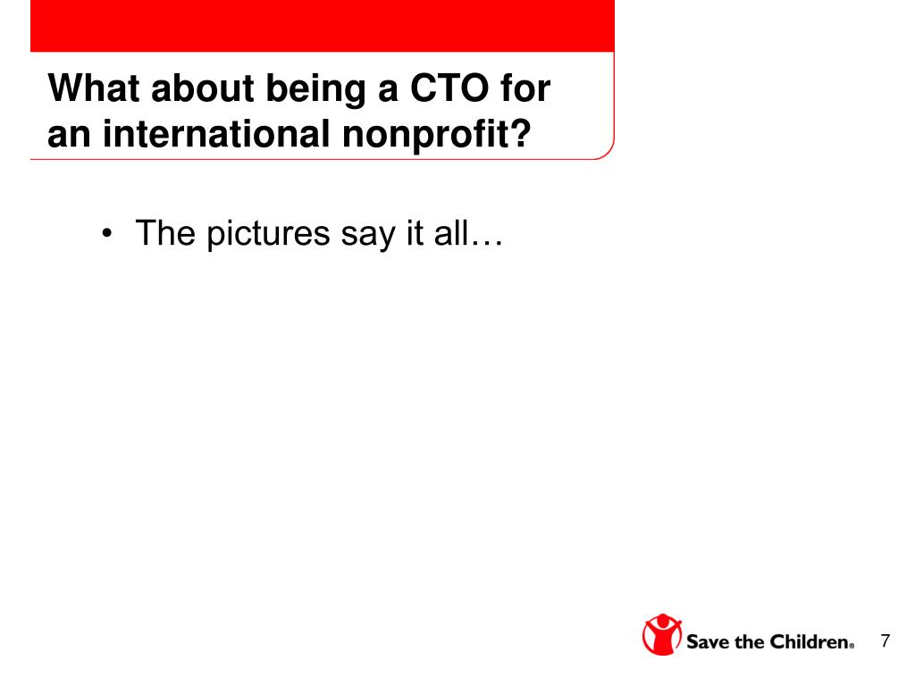 What about being a CTO for an international nonprofit?