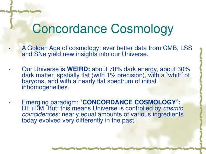Concordance cosmology