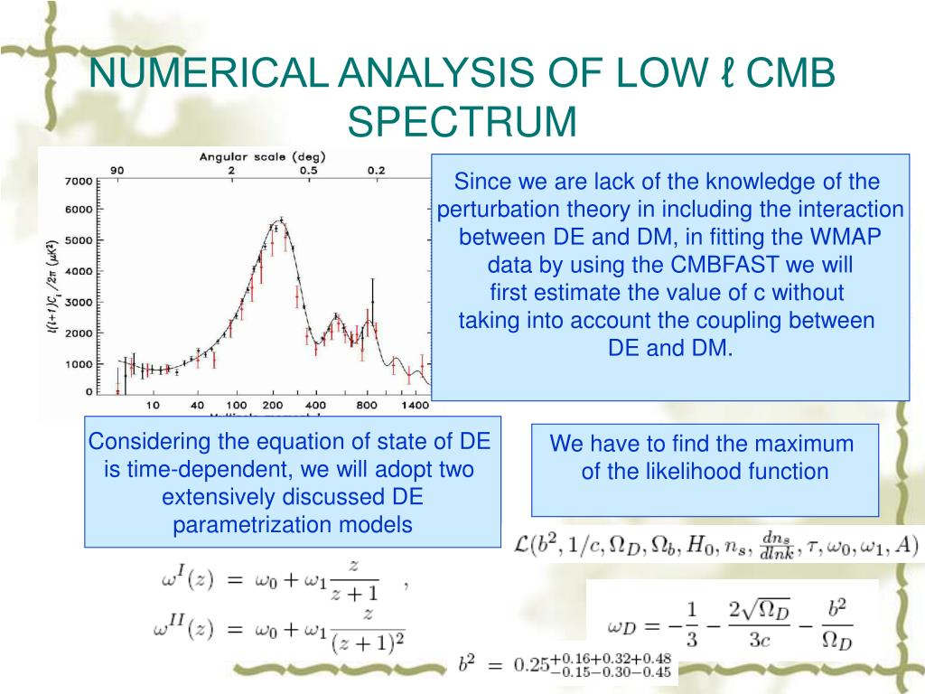 NUMERICAL ANALYSIS OF LOW ℓ CMB SPECTRUM