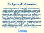 background information12
