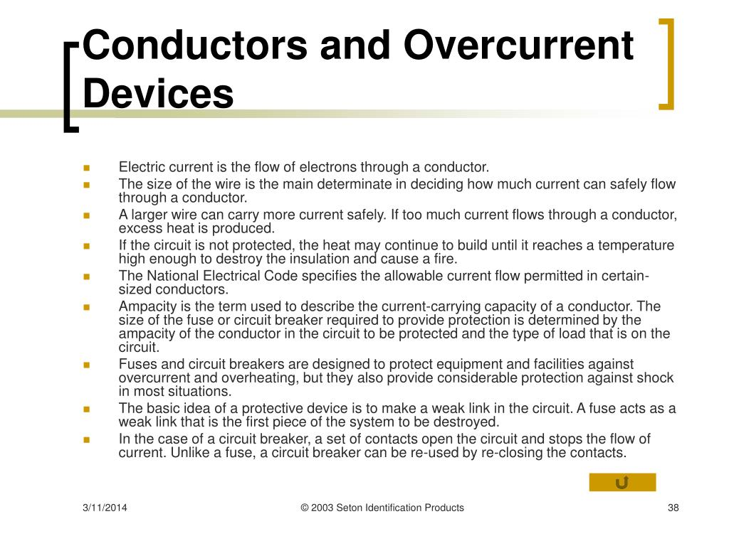 Conductors and Overcurrent Devices