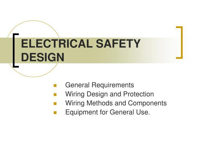 electrical safety design n.