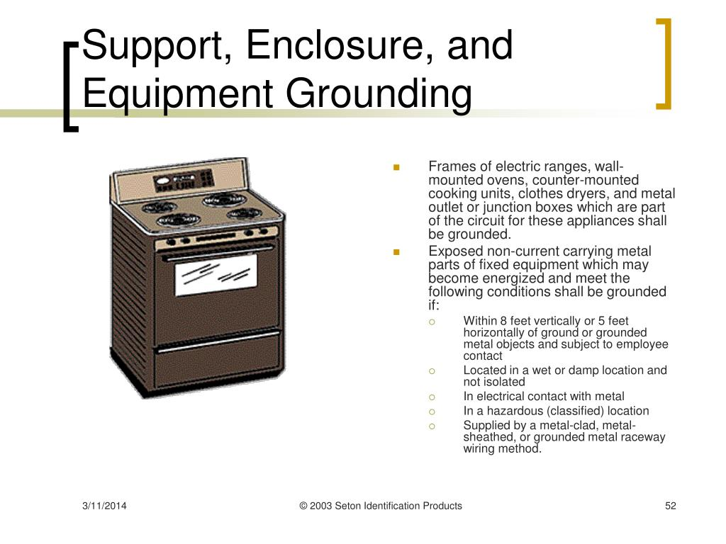 Support, Enclosure, and Equipment Grounding