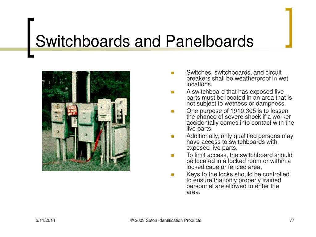 Switchboards and Panelboards