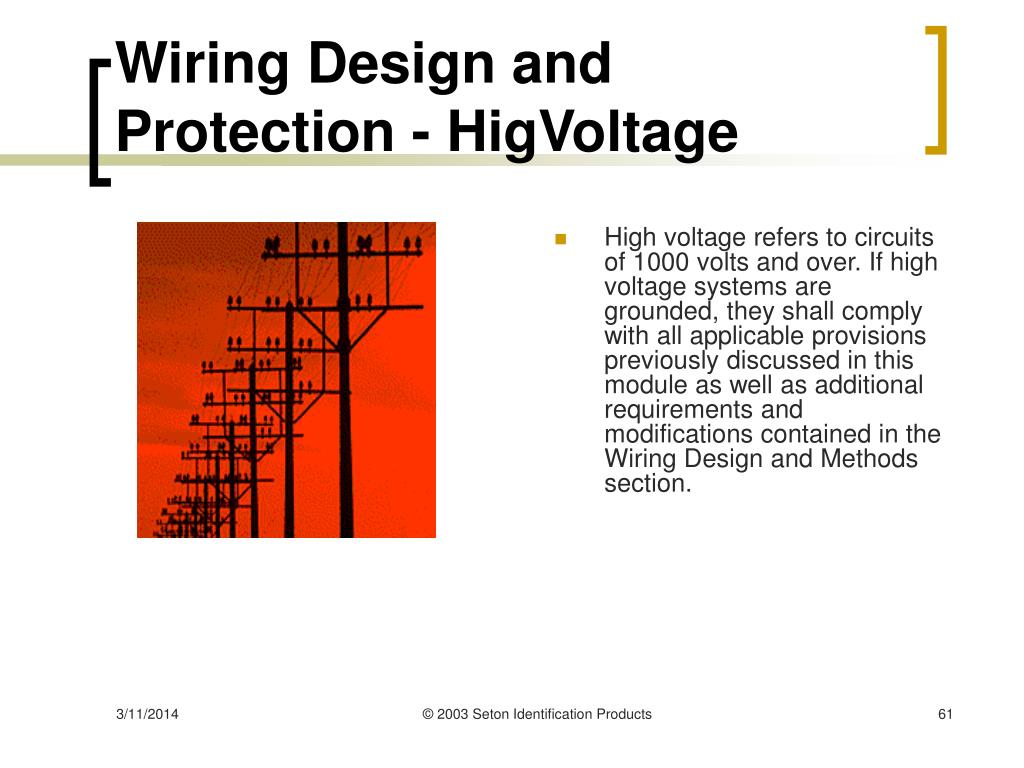 Wiring Design and Protection - HigVoltage
