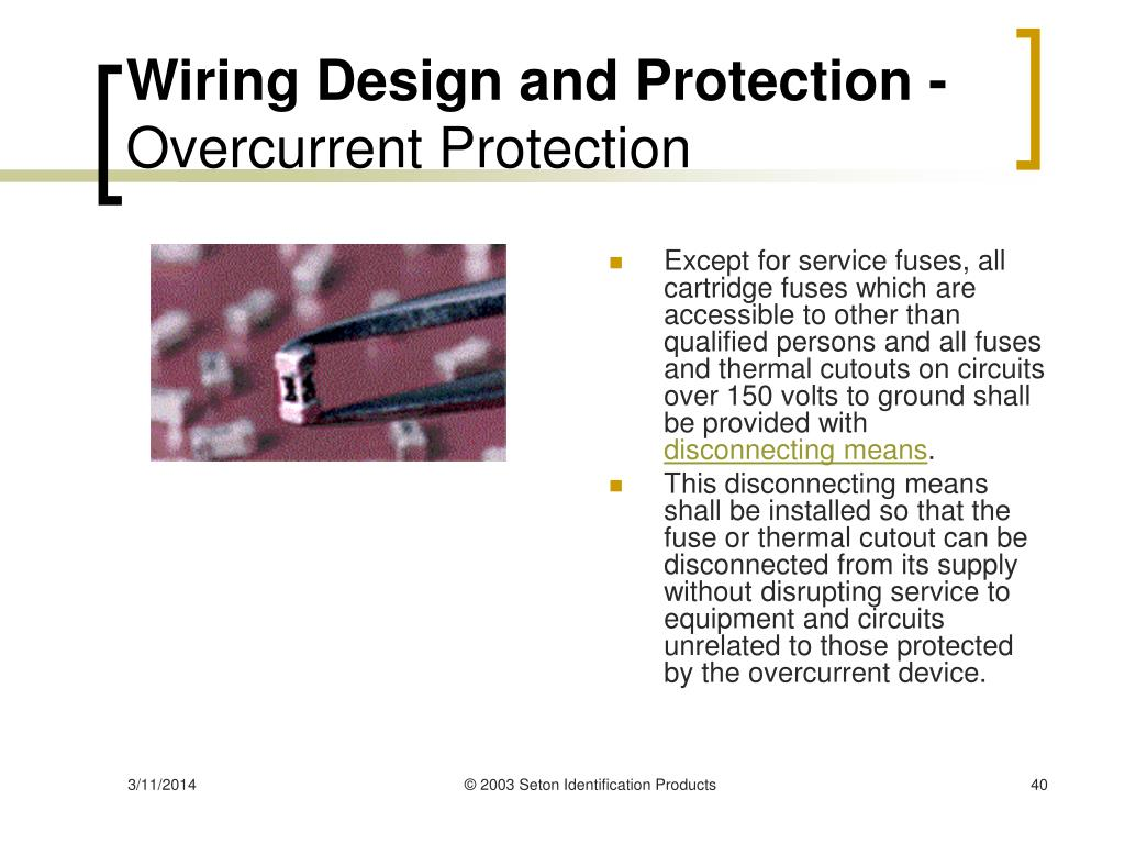 Wiring Design and Protection -