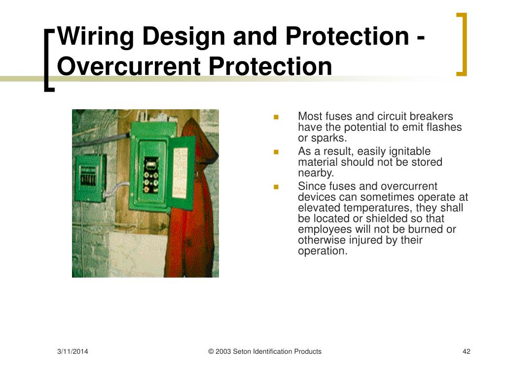 Wiring Design and Protection - Overcurrent Protection