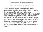 consequences of the american revolution creation of american identity and nationhood