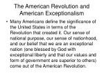 the american revolution and american exceptionalism