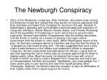 the newburgh conspiracy