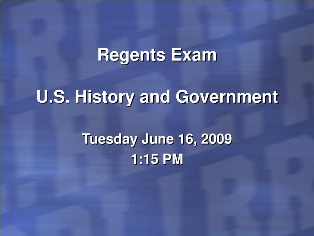 Regents Exam