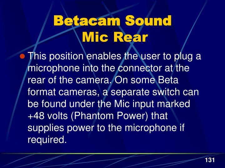 Betacam Sound