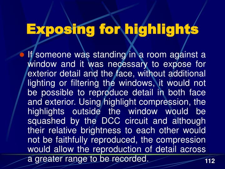 Exposing for highlights