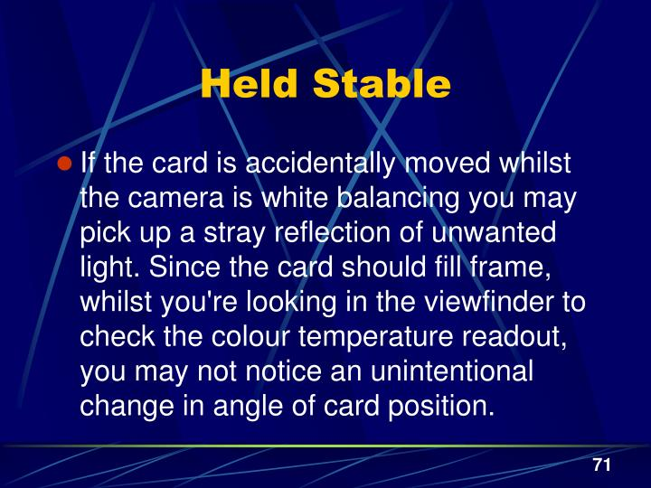 Held Stable