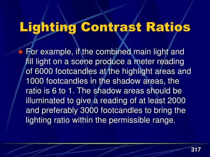 Lighting Contrast Ratios