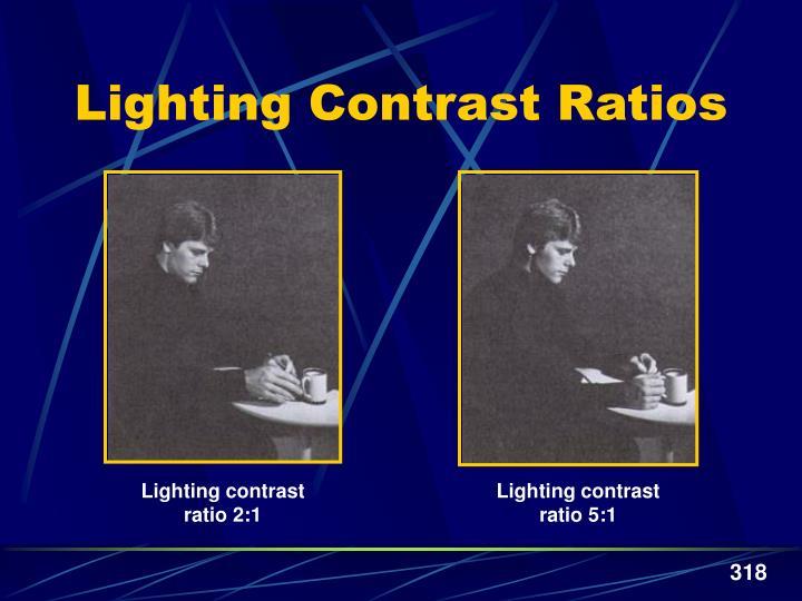 Lighting contrast ratio 5:1