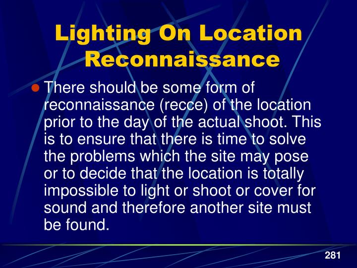 Lighting On Location