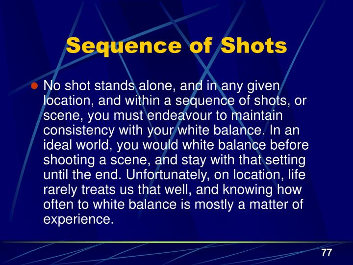 Sequence of Shots