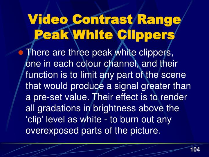 Video Contrast Range