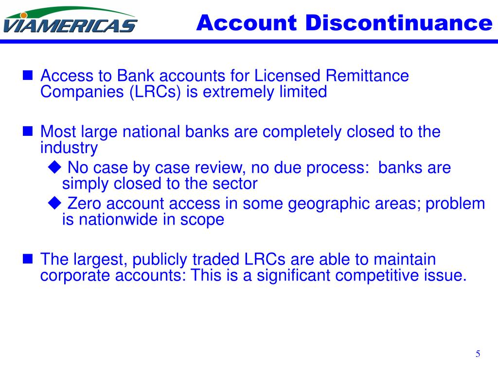 Account Discontinuance