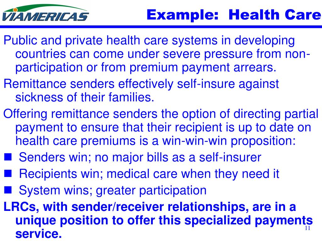 Example:  Health Care