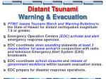 distant tsunami warning evacuation