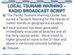 local tsunami warning radio broadcast script