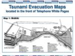 tsunami evacuation maps located in the front of telephone white pages