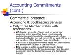 accounting commitments cont