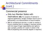 architectural commitments cont