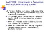 cariforum commitments in accounting auditing bookkeeping services