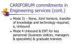 cariforum commitments in engineering services cont