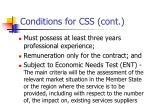 conditions for css cont