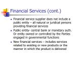 financial services cont