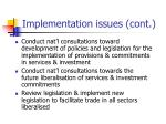 implementation issues cont