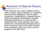 movement of natural persons