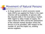 movement of natural persons107