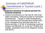 summary of cariforum commitments in tourism cont