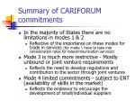 summary of cariforum commitments