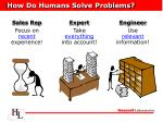 how do humans solve problems